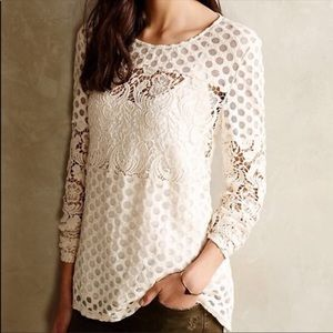 Anthropologie lace and crochet top